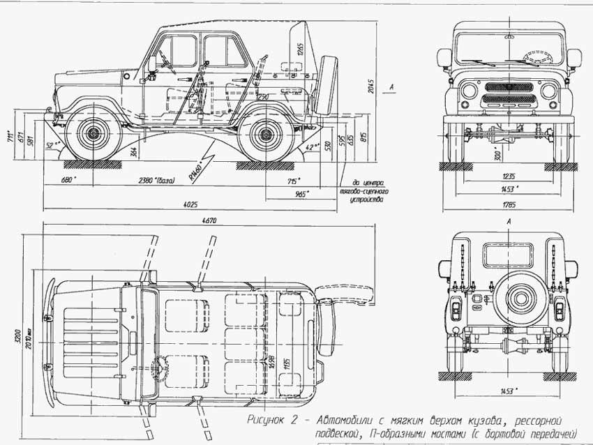 УАЗ-469/469Б; 1985-2003г.г.